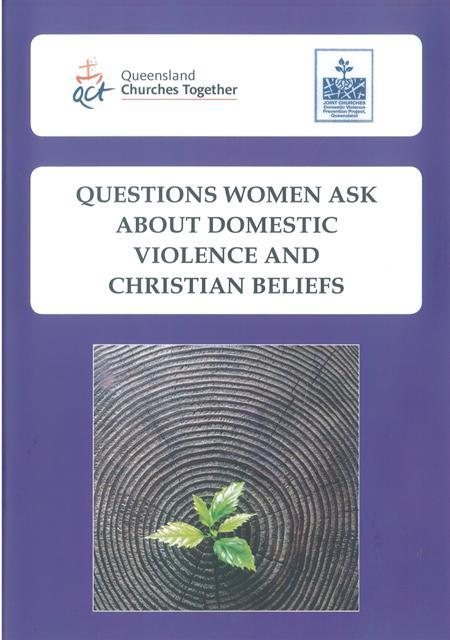 'Questions Women Ask About Domestic Violence and Christian Beliefs': revised booklet now available
