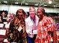 From left to right: Fulata Mbano-Moyo, Harriett Jane Olson and Nyaradzayi Gumbonzvanda at the UMW assembly in Louisville. Photo by WCC.